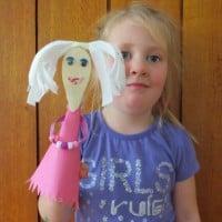 Princess Wooden Spoon Puppet